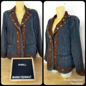 CHAGALL Bead Embellished Denim Jacket